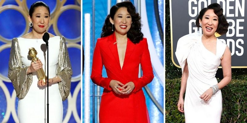Best and Worst Dressed Celebs at the 2019 Golden Globes Sandra Oh in Versace
