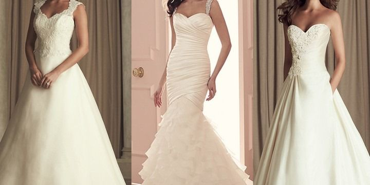 How to choose the right wedding dress for your body type for Wedding dresses for apple shaped brides